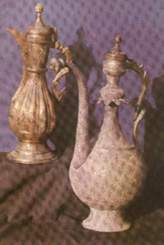 Кумганы.Чеканка по металлу самаркандских ремесленников XVI-XVIII вв. н.э.