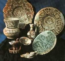 Керамические изделия.Афрасиаб.X-XIII вв. н.э.